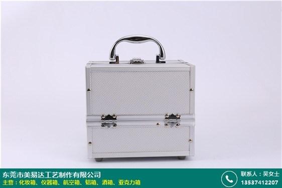 韩式皮革化妆箱的图片