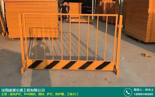 黄色基坑护栏基坑邻边防护栏的图片
