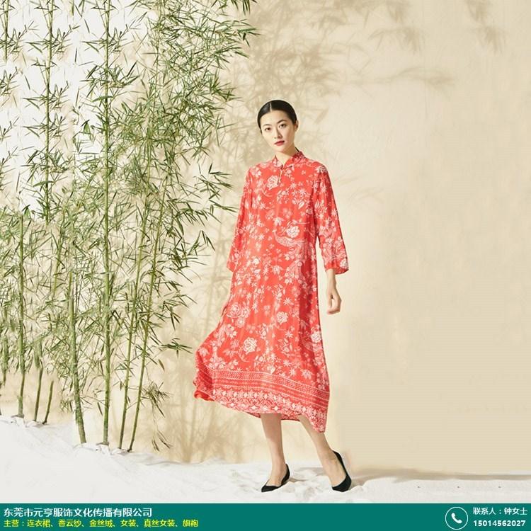 河北印花香云纱连衣裙加工的图片