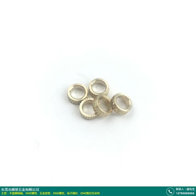 铜CNC螺母样品的图片