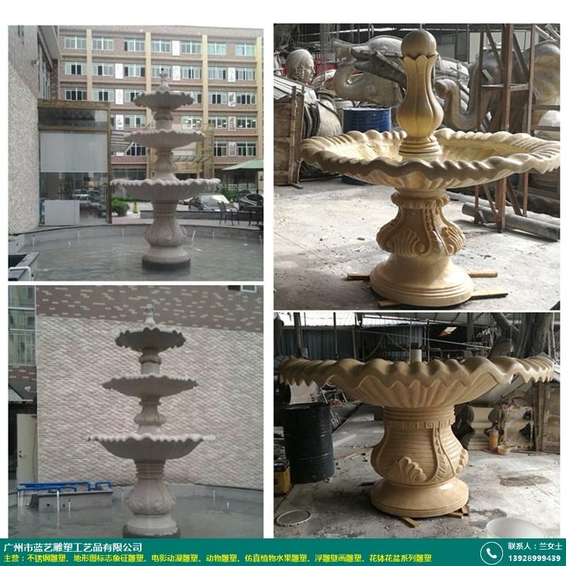 喷泉水景景观雕像的图片