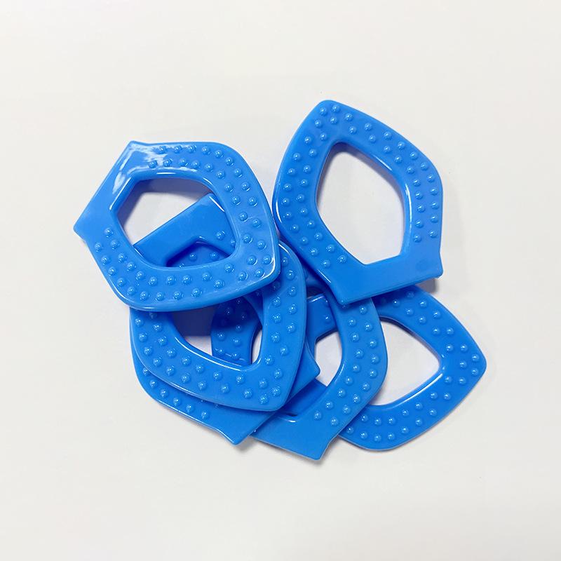 厂家专业生产 菱形牙胶 婴幼宝宝单色啃咬磨牙玩具 支持加工定制