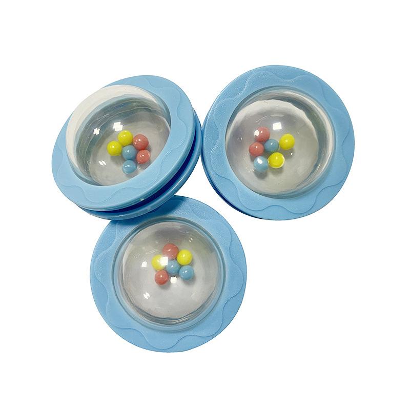 厂家供应 索带不转动波 转动摇铃 波仔球 婴儿玩具 塑料玩具配件