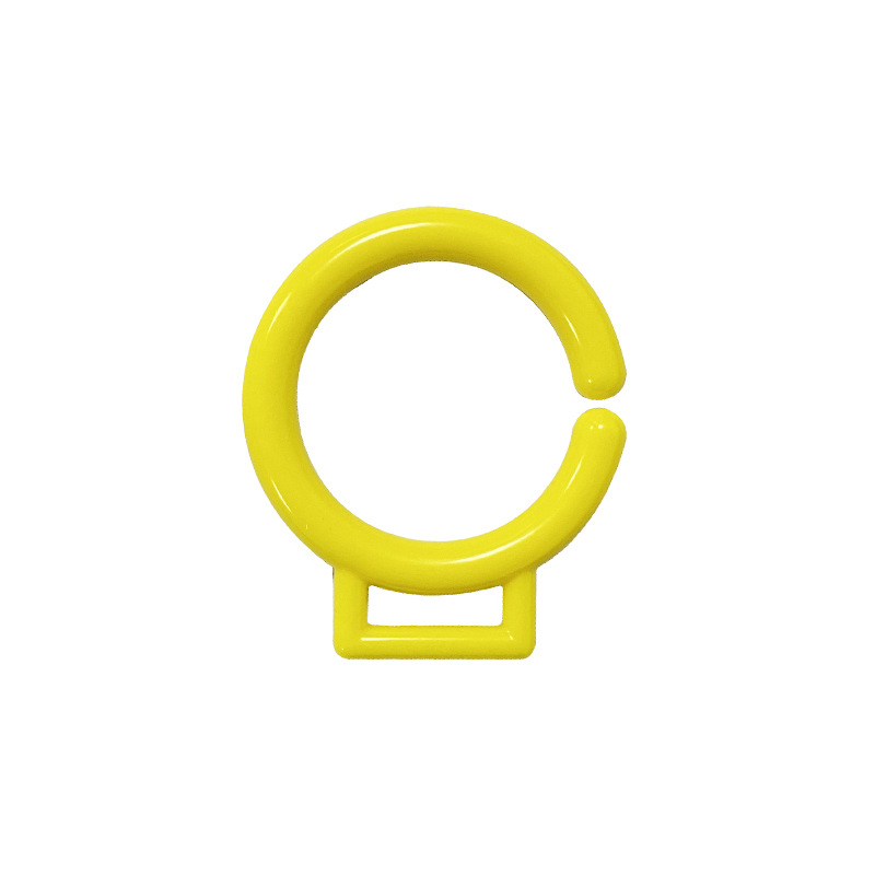 厂家直销塑料环配件 挂环挂扣卡扣 开口胶圈 塑胶玩具配件 可定制