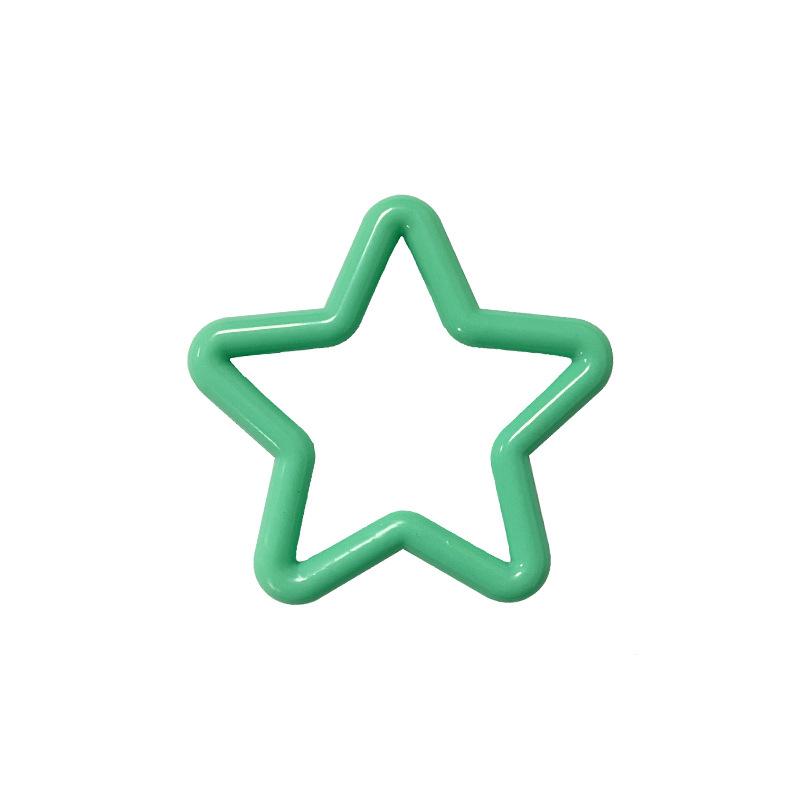 厂家直销 五角星胶环 玩具塑料配件 可做任何颜色 支持加工定制