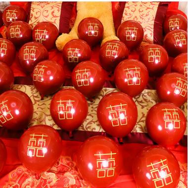 10寸单层宝石红气球