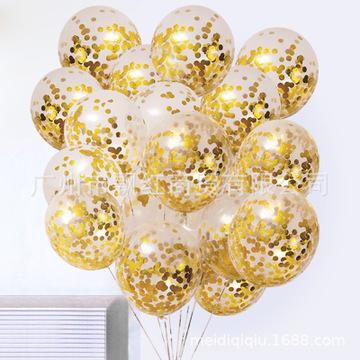 12寸乳胶透明气球亮片气球