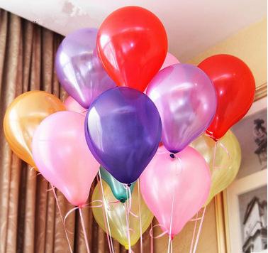 厂家批发多色珠光气球 装饰生日派对气球 婚庆活动布置气球定制